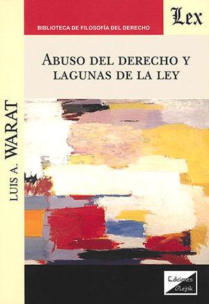 ABUSO DEL DERECHO Y LAGUNAS DE LA LEY