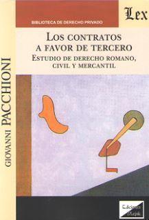 CONTRATOS A FAVOR DE TERCERO, LOS