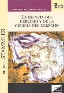 ESENCIA DEL DERECHO Y DE LA CIENCIA DEL DERECHO, LA