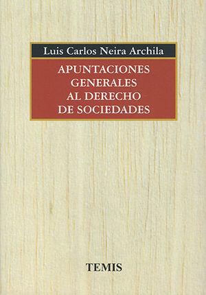 APUNTACIONES GENERALES AL DERECHO DE SOCIEDADES