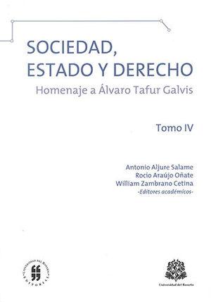 SOCIEDAD ESTADO Y DERECHO - TOMO IV