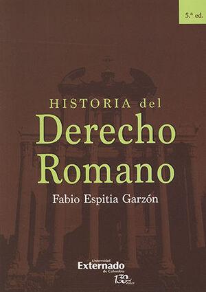 HISTORIA DEL DERECHO ROMANO - 5ª ED
