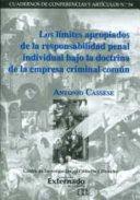 LIMITES APROPIADOS DE LA RESPONSABILIDAD PENAL INDIVIDUAL BAJO LA DOCTRINA DE LA EMPRESA CRIMINAL COMÚN, LOS