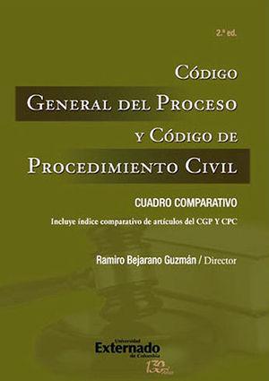 CODIGO GENERAL DEL PROCESO Y CODIGO DE PROCEDIMIENTO CIVIL