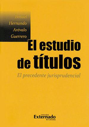 ESTUDIO DE TÍTULOS, EL