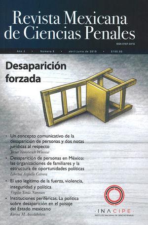 REVISTA MEXICANA DE CIENCIAS PENALES NÚM. 8 (ABRIL-JUNIO 2019)