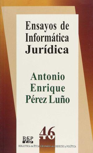 ENSAYOS DE INFORMÁTICA JURÍDICA - 2.ª REIMPR. 2009