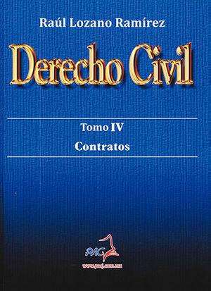 DERECHO CIVIL TOMO IV. CONTRATOS