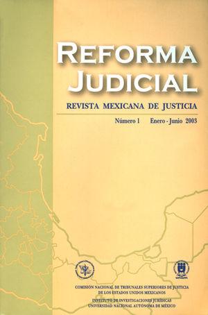 REFORMA JUDICIAL #1 ENERO - JUNIO 2003
