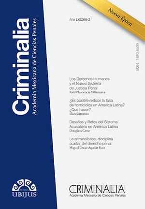 CRIMINALIA AÑO LXXXIII - 02 REVISTA DE LA ACADEMIA MEXICANA DE CIENCIAS PENALES