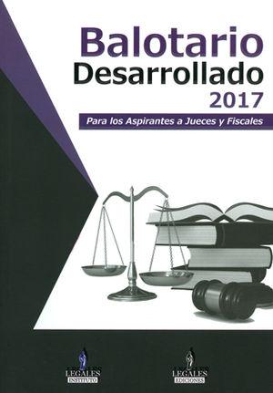 BALOTARIO DESARROLLADO 2017