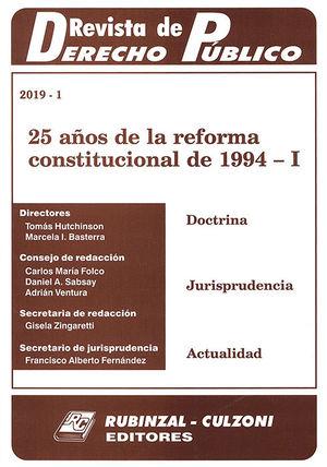 REVISTA DE DERECHO PÚBLICO. 2019-1