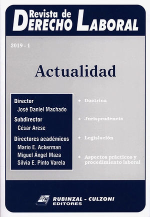 REVISTA DE DERECHO LABORAL. 2019-1