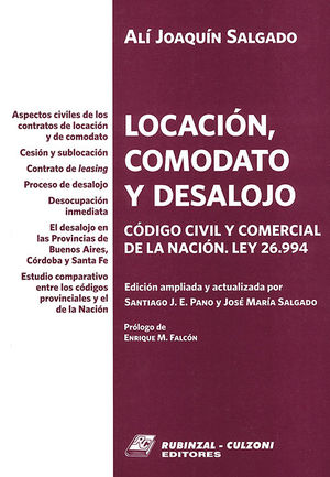 LOCACIÓN, COMODATO Y DESALOJO