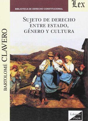 SUJETO DE DERECHO ENTRE ESTADO, GÉNERO Y CULTURA