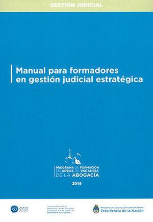 MANUAL PARA FORMADORES EN GESTIÓN JUDICIAL