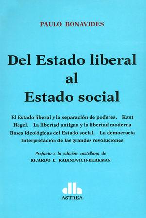 DEL ESTADO LIBERAL AL ESTADO SOCIAL