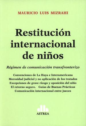 RESTITUCIÓN INTERNACIONAL DE NIÑOS
