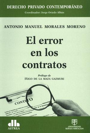 ERROR EN LOS CONTRATOS, EL
