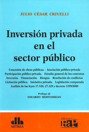 INVERSIÓN PRIVADA EN EL SECTOR PÚBLICO
