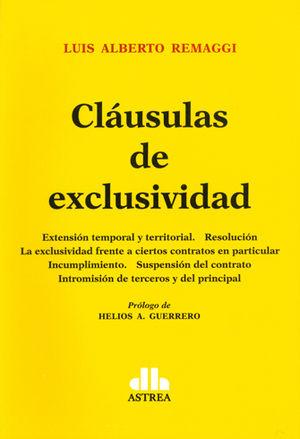 CLÁUSULAS DE EXCLUSIVIDAD
