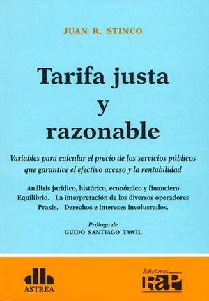 TARIFA JUSTA Y RAZONABLE