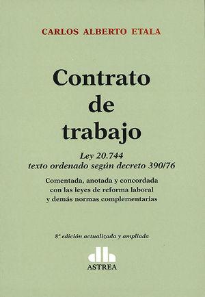 CONTRATO DE TRABAJO. (2 TOMOS)