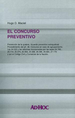 CONCURSO PREVENTIVO, EL