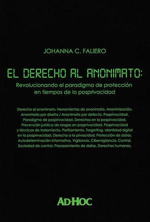 DERECHO AL ANONIMATO, EL