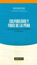 CULPABILIDAD Y FINES DE LA PENA