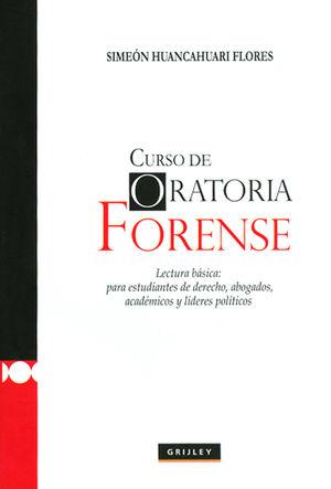 CURSO DE ORATORIA FORENSE