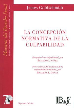 CONCEPCIÓN NORMATIVA DE LA CULPABILIDAD, LA. (NÚMERO SIETE)