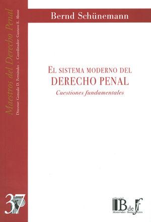 SISTEMA MODERNO DEL DERECHO PENAL