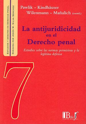 ANTIJURIDICIDAD EN EL DERECHO PENAL, LA