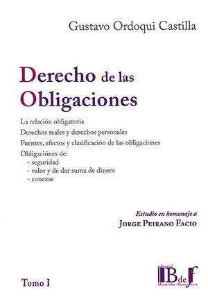 DERECHO DE LAS OBLIGACIONES (TOMO I)